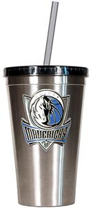 NBA Mavericks 16oz Stainless Tumbler w/Straw