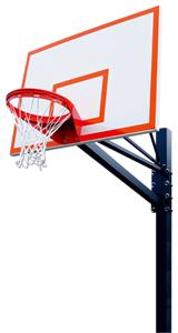 "Endurance 60"" Steel Basketball Backboard System"