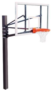 "Endurance 72"" Glass Basketball Backboard System"