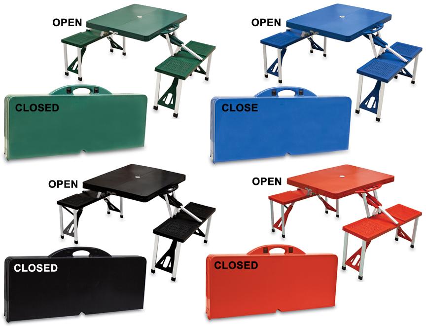 E49194 Picnic Time Folding Portable Picnic Table