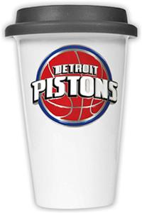 NBA Detroit Pistons Ceramic Cup with Black Lid
