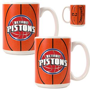 NBA Detroit Pistons Gameball Mug (Set of 2)