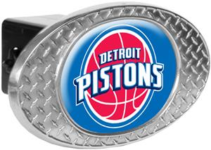 NBA Detroit Pistons Diamond Plate Hitch Cover