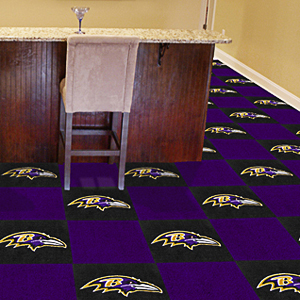 Fan Mats NFL Baltimore Ravens Carpet Tiles