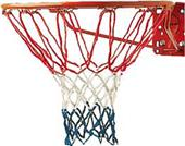 Champion Red/White/Blue Economy Basketball Net-4mm