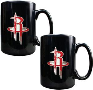 NBA Houston Rockets Black Ceramic Mug (Set of 2)