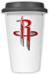 NBA Houston Rockets Ceramic Cup with Black Lid