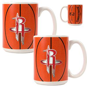 NBA Houston Rockets Gameball Mug (Set of 2)
