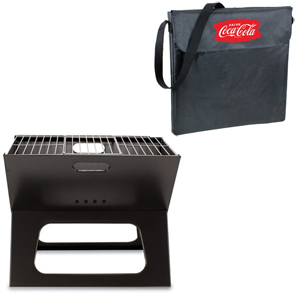 Picnic Time Coca Cola Charcoal X-Grill with Tote