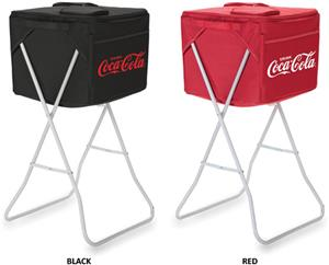 Picnic Time Coca Cola Party Cube Cooler with Stand