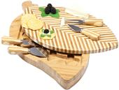 Picnic Time 2-Tiered Leaf Cutting Board with Tools
