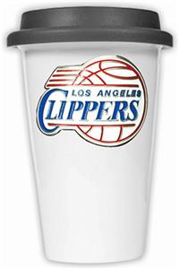 NBA LA Clippers Ceramic Cup with Black Lid