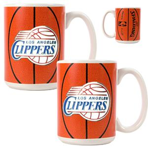 NBA Los Angeles Clippers Gameball Mug (Set of 2)