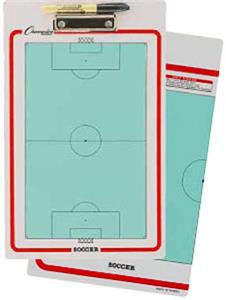 Champion Sports Soccer Dry Erase Coach Clipboards