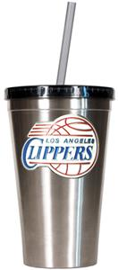 NBA LA Clippers 16oz Stainless Tumbler w/Straw