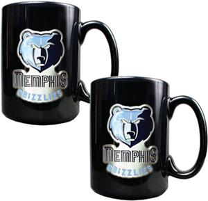 NBA Memphis Grizzlies Black Ceramic Mug (Set of 2)