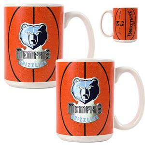 NBA Memphis Grizzlies GameBall Mug (Set of 2)