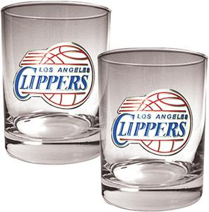 NBA Memphis Grizzlies 2 piece 14oz Rocks Glass Set