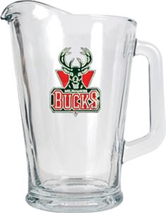 NBA Milwaukee Bucks 1/2 Gallon Glass Pitcher