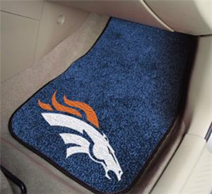 Fan Mats Denver Broncos Carpet Car Mats
