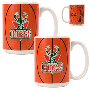 NBA Milwaukee Bucks GameBall Mug (Set of 2)
