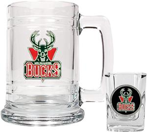 NBA Milwaukee Bucks Boilermaker Gift Set