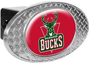 NBA Milwaukee Bucks Diamond Plate Hitch Cover