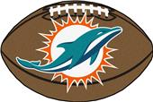 Fan Mats Miami Dolphins Football Mat
