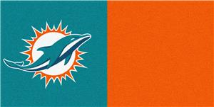 Fan Mats NFL Miami Dolphins Carpet Tiles