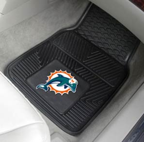 Fan Mats Miami Dolphins Vinyl Car Mats