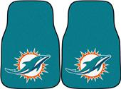 Fan Mats Miami Dolphins Carpet Car Mats (set)