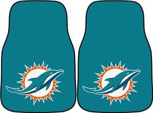 Fan Mats Miami Dolphins Carpet Car Mats (2 PC)