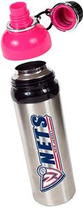 NBA New Jersey Nets Water Bottle w/Pink Top