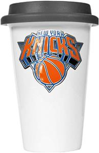 NBA New York Knicks Ceramic Cup with Black Lid