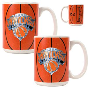 NBA New York Knicks GameBall Mug (Set of 2)