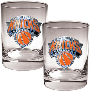 NBA New York Knicks 2 piece 14oz Rocks Glass Set