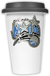 NBA Orlando Magic Ceramic Cup with Black Lid