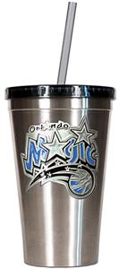 NBA Orlando Magic 16oz Stainless Tumbler w/Straw
