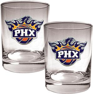 NBA Phoenix Suns 2 piece 14oz Rocks Glass Set