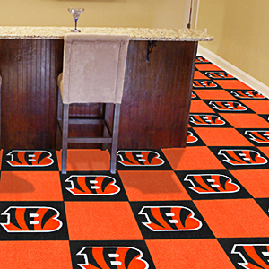 Fan Mats NFL Cincinnati Bengals Carpet Tiles