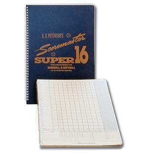 Peterson's Baseball Super 16 Scoremaster Scorebook