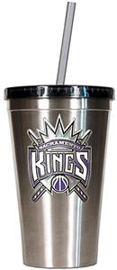 NBA Kings 16oz Stainless Tumbler w/Straw