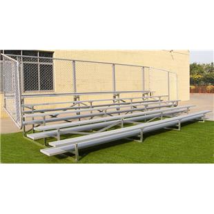 Gared Double Foot Plank Fixed Aluminum Bleachers