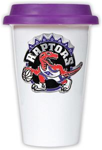 NBA Toronto Raptors Ceramic Cup with Purple Lid
