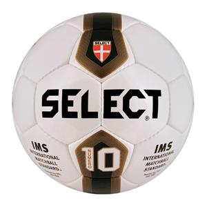 Select NFHS IMS Numero 10 Soccer Ball Wt/Bk/Gold