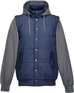 Mens Shawn Hoody Convertable Jacket/Vest Set