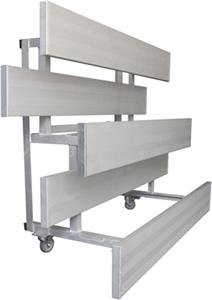 Gared Single Foot Tip N' Roll Aluminum Bleachers