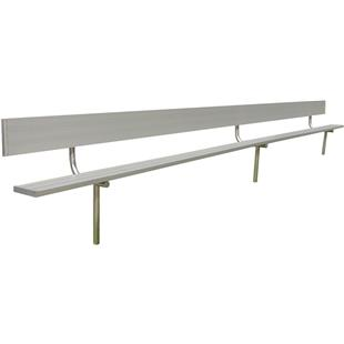 Gared Permanent Aluminum Benches with Backs
