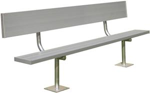 Gared Surface Mount Aluminum Benches with Backs