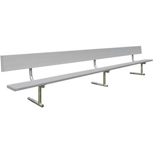 Gared Portable Aluminum Benches with Backs